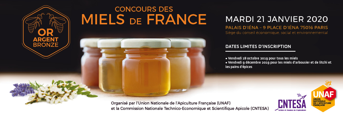3ème Concours des Miels de France, ouverture des inscriptions